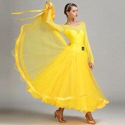 Nieuwe Aankomst Moderne Dans Jurk Vrouwelijke Kostuum Prestaties Kleding Nationale Standaard Dans Uniform Prestaties Pak B-6138