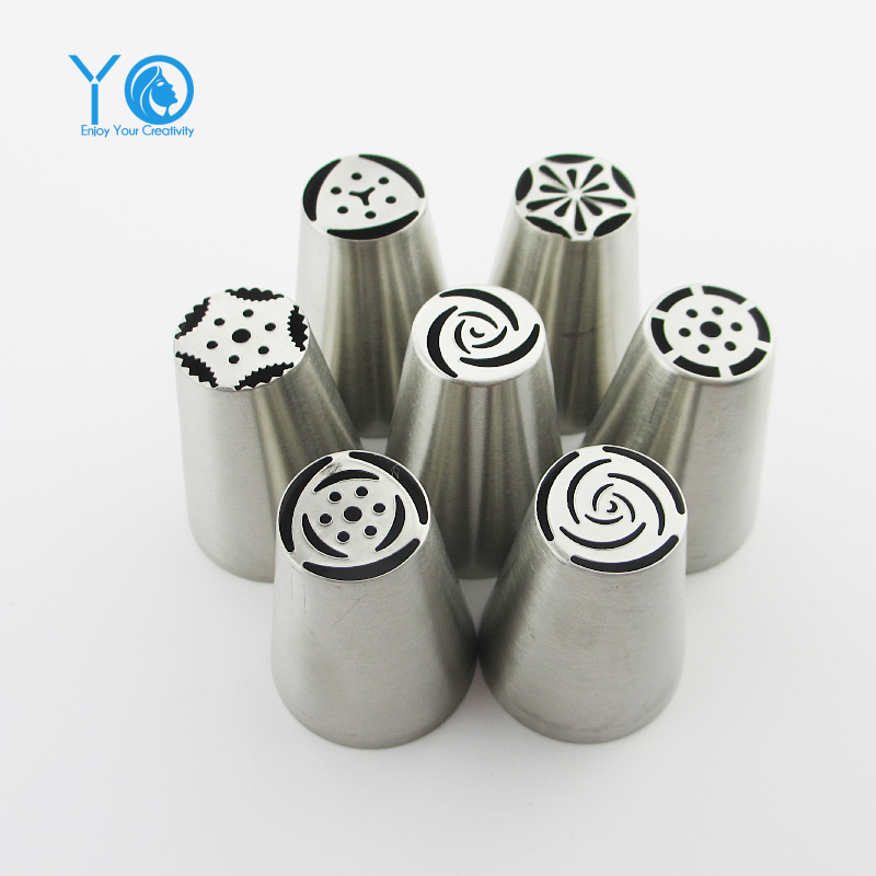 Cake Decorating Tips Rust : 7pcs/lot Russian Tulip Nozzles Stainless Steel Cake ...