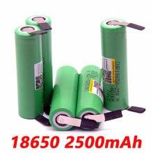 Liitokala bateria de lítio original, 18650 2500 mah inr18650 25r 20a descarga baterias + níquel para faça você mesmo