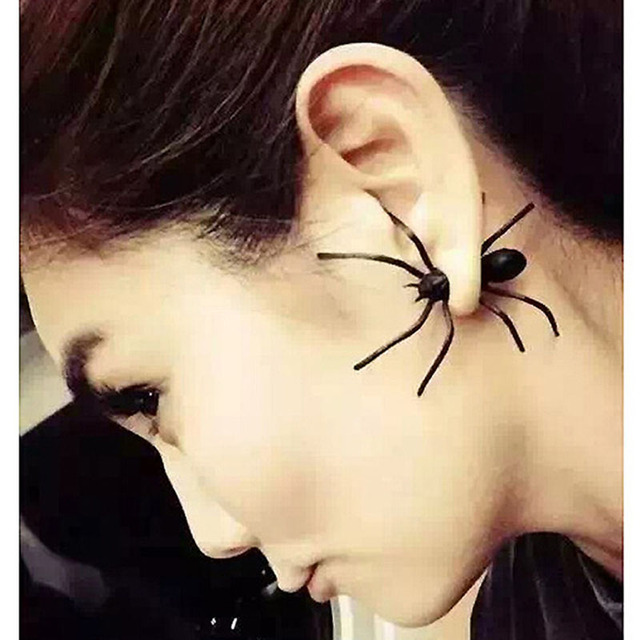 Vintage Halloween Acryllic Spider Earirings