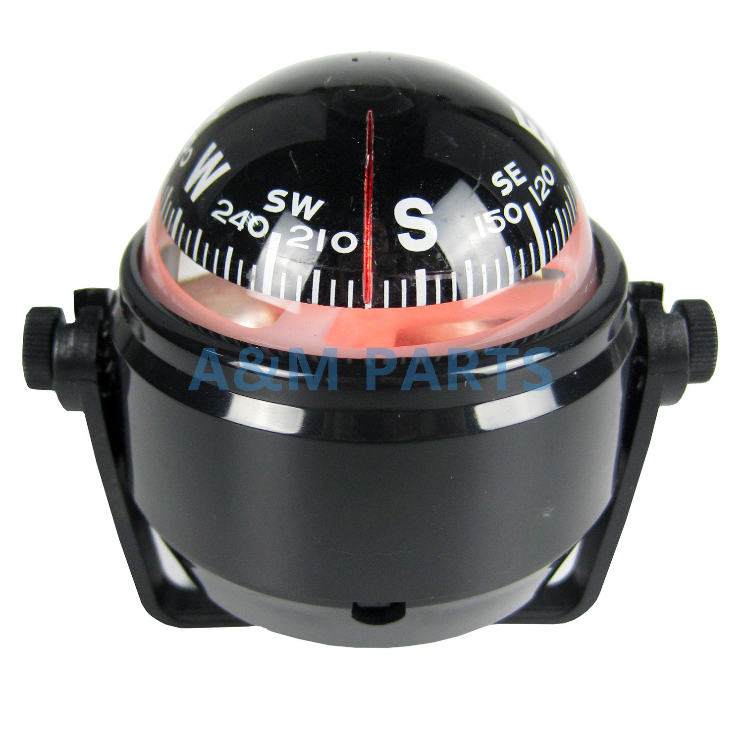 Marine LED Navigation Compass for Sail Ship Vehicle Car Boat Black Electronic