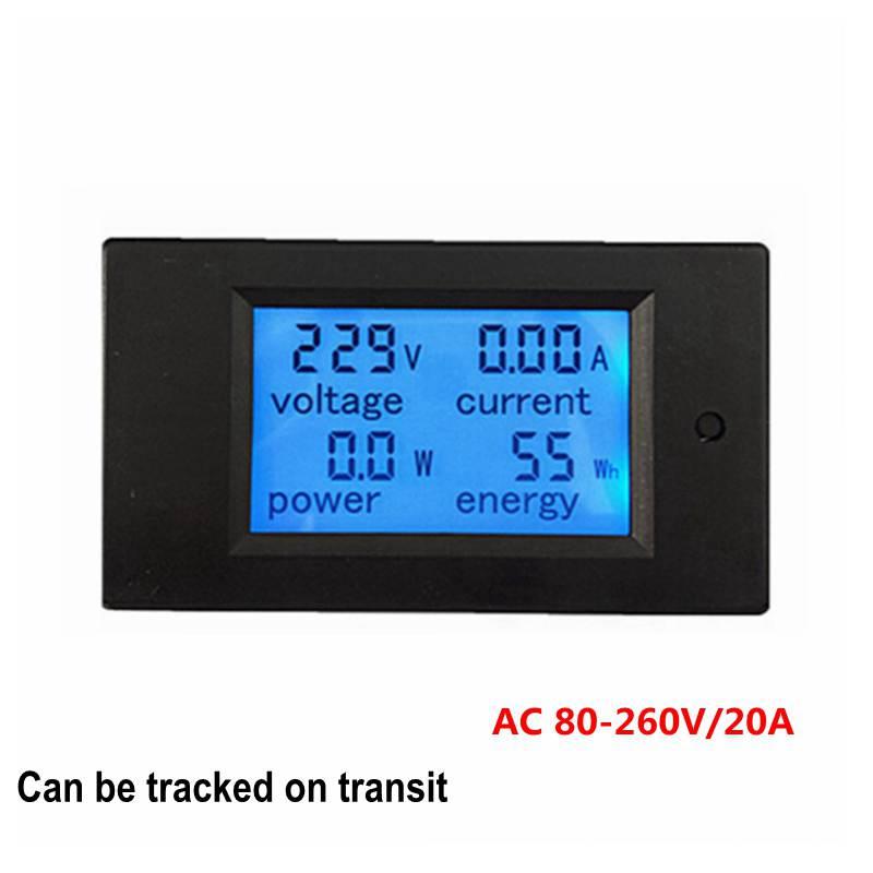 Nova LCD AC 80-260 V/20A Amperímetro Voltímetro Volt Medidor de Medidor De Energia De Energia com luz de Fundo Azul de Dados Função de armazenamento
