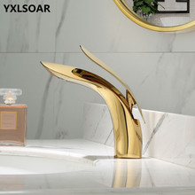 Bathroom Basin Faucet Total Brass Lavatory Sink Mixer Tap Hot & Cold Toilet Basin Faucet Bathroom Crane Leaf-Shape Tap Torneira все цены