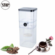 YRP 400ml Portable Cold Brew Coffee Maker Household Reusable Ice Water Drip Filter Cafe Percolators Espresso Coffee Dripper Pot цена 2017