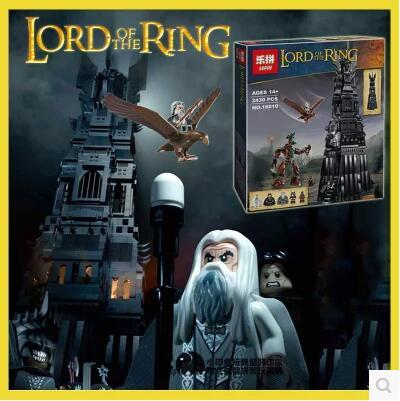 New LEPIN 16010 2430Pcs Lord of the Rings The Tower of Orthanc Model Building Kits Blocks Bricks Toys Gift 10237 big size toy hot sale the hobbit lord of the rings mordor orc uruk hai aragorn rohan mirkwood elf building blocks bricks children gift toys