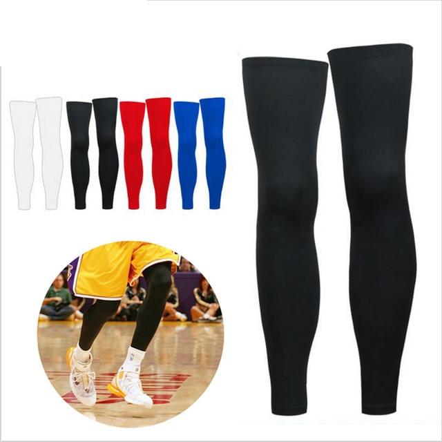 dc5318400c 1PCS Super Elastic Lycra Basketball Knee Pad Support Brace Football Leg  Calf Thigh Compression Sleeve Sports
