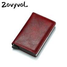 ZOVYVOL RFID Blocking Card Wallet Gift Men Women Credit Holder Carbon Aluminum Slim Short ID Money
