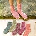 Горячая Продажа! женские Носки Моды Конфеты Цвет Зимняя Шерсть Милый Носки Meia Женщина Теплые Носки