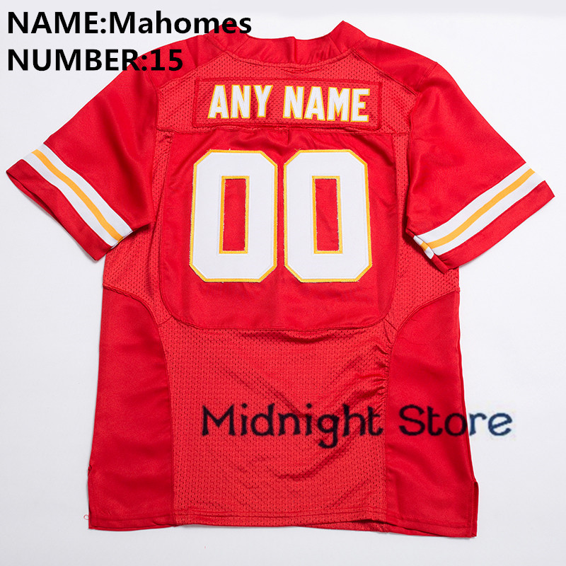 New Men 15 Patrick Mahomes High Quality Stitched Logos&Name&Number Game Football Jerseys White Red S-XXXL цены