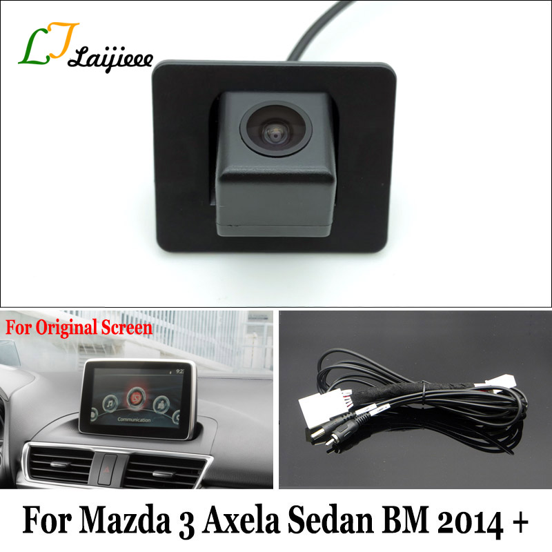 Backup Camera For Mazda 3 Mazda3 Axela Sedan BM 2014 2015 2016 2017 2018 2019 Original Car Screen Compatible Rearview Camera