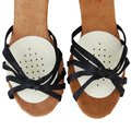 FGGS-1 Par de Látex Frente Pontilhada Metade Palmilhas para Sapatos Almofada Almofadas