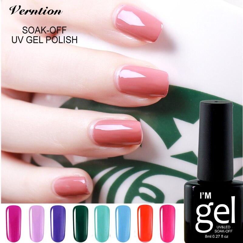 verntion uv led glitter gel nail vernis semi permanent saok gel nail lacquers varnish