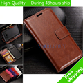 Wax Crazy Horse Flip Leather Wallet Case Holder Cover Stand Wallet Bag Card Holder For Samsung Galaxy J1 J120 J120F (2016) 4.5""