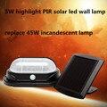 Solar powered led solar lights 5W PIR doorhead lamp high brightness led wall gardern lamp replace 45W  incandescent bulb