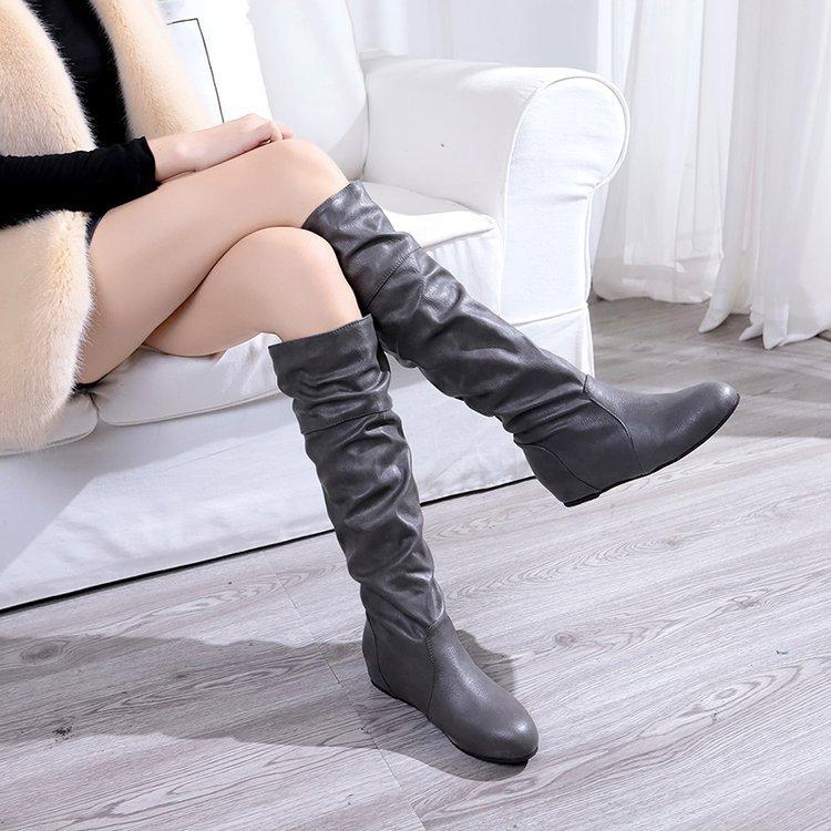 Dwayne Womens Flat Boots Height