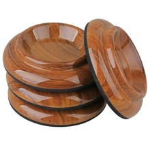 Yibuy 4pcs 4.01″ Acrylic Piano Caster Cups Pads for Upright Piano Rosewood Color