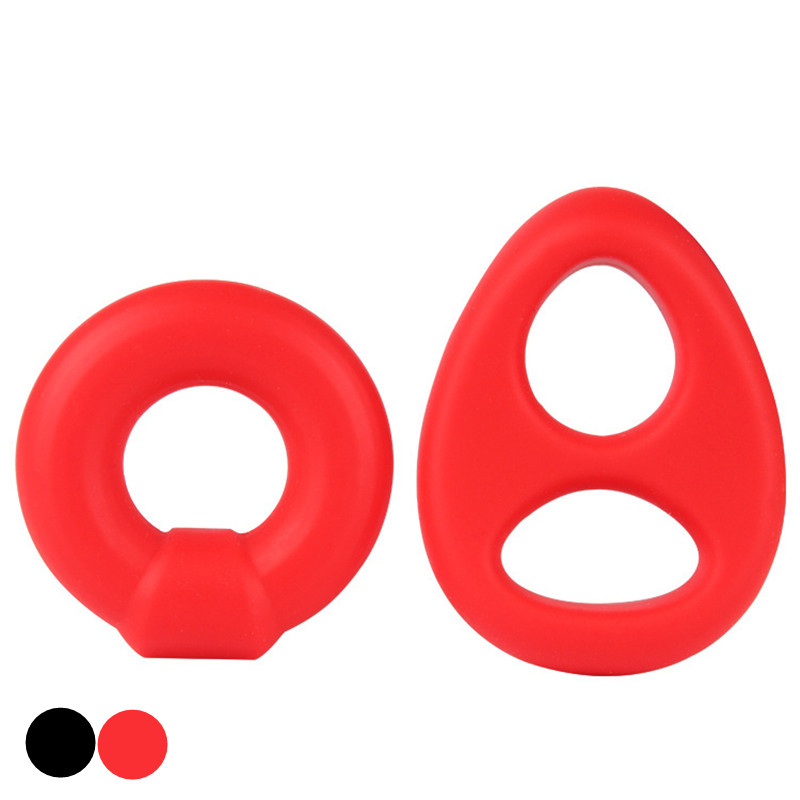 Silicone Cock Ring Penis Rings Sleeve Male Delay Cockring Scrotal Bondage Ball Chastity Cage In Adult Games Sex Toys For Men