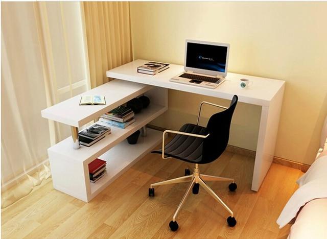 Scrivania Angolo Computer : Moda rotante computer desktop a casa scrivania angolo con libreria
