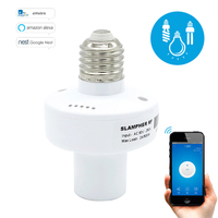 Led bulb E27 Lamp holder, Slampher 433MHz RF Wireless WiFi Light Lamp For Smart Home Improve IOS Android Remote Control