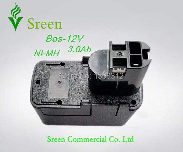 Neue 12 V 3000 mAh Ni-Mh Ersatz Ersatz Werkzeug Akku für Bosch 2 607 335 055 BAT011 BH1214L Freies verschiffen