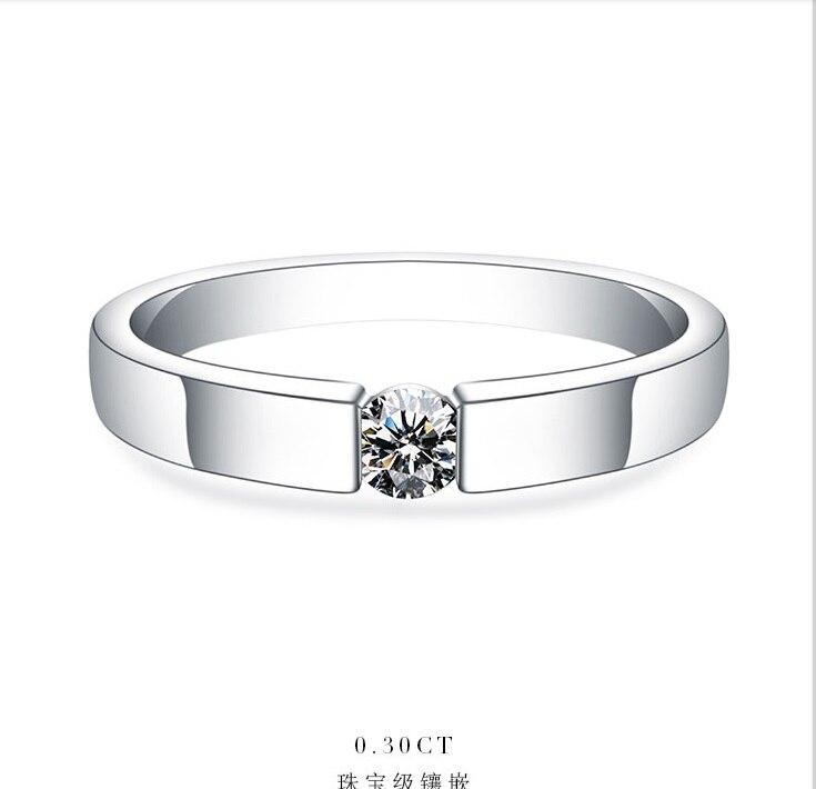 0.25Ct 4mm G H Moissanite Engagement Ring für Frauen Weiß Gold Farbe Solide 925 Sterling Silber Hochzeit Ehe Schmuck-in Verlobungsringe aus Schmuck und Accessoires bei  Gruppe 1