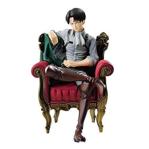 NEW hot 15cm Attack on Titan Levi Rivaille Rival Ackerman sofa action figure toys collection doll Christmas gift no box new hot 13cm the night hunter vayne action figure toys collection doll christmas gift no box
