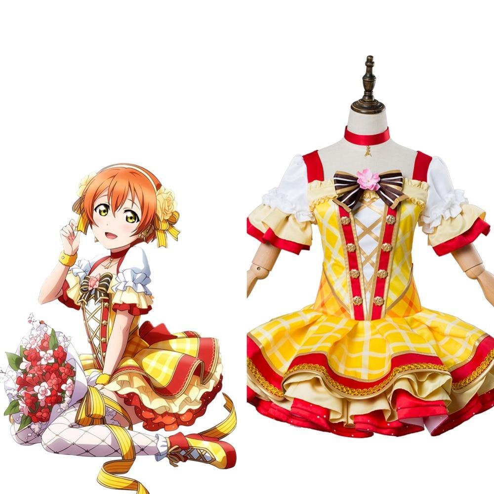 Rin Hoshizora Cosplay Costume Love Live Sunshine Cosplay Bouquet Sets Uniform Dress Costume Halloween Carnival Party For Women