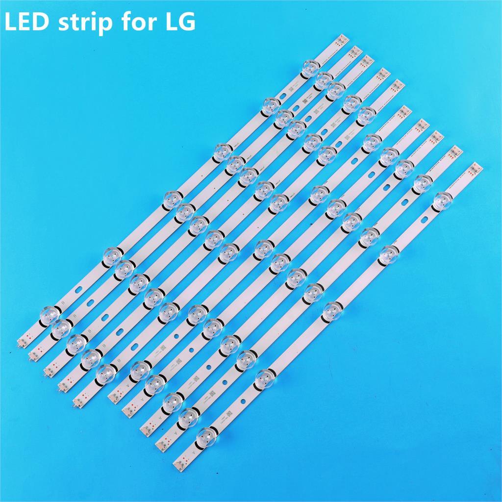 10pcs LED strip for LG 55LB5900 innotek DRT 3.0 55 6916L-1992A 1991A 1834A 1833A