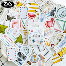 46pcs/lot Stationery collection mini paper sticker Decoration DIY Scrapbooking Sticker kawaii diary label sealing stickers 38 pieces box various utility kawaii cartoon mini paper stickers merry christmas decoration diy scrapbooking stationery sticker
