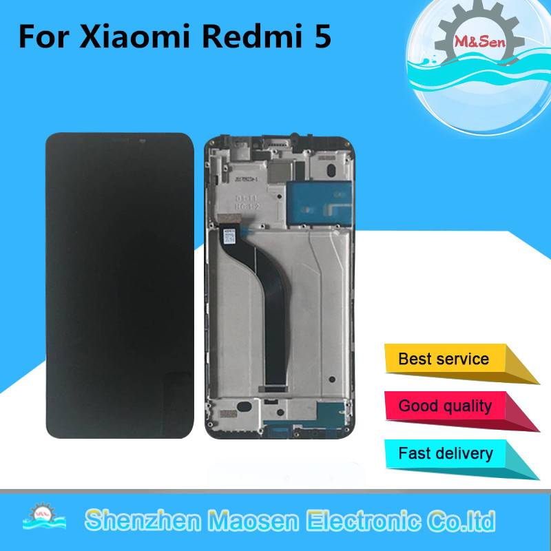 Оригинальный М & Sen Для 5,7 Xiaomi Redmi 5 ЖК-дисплей экран + Сенсорная панель планшета с рамкой для Xiaomi Redmi 5 экрана 5,7 дюймов
