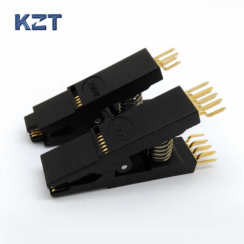 2PCS / Lot BIOS SOP8 + SOP16 Original Bent Test Clip Pin Pitch 1.27mm SOIC Universal Body Programming Clip Adapter bios sop16 soic16 original straight test clip pin pitch 1 27mm universal body programming clip test clamp