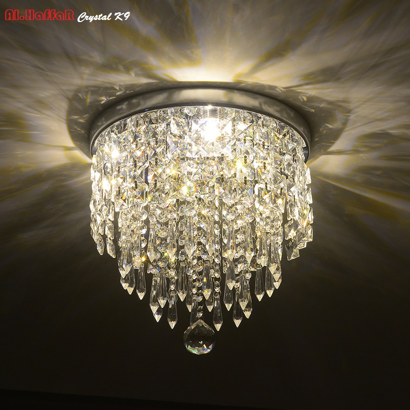Modern crystal ceiling Lights LED corridor LED Ceiling crystal Lights Living Room luminarias AC110V 240V Crystal
