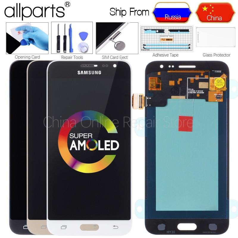 AMOLED LCD Originale per SAMSUNG J3 2016 Display Touch Screen Digitizer per SAMSUNG Galaxy J3 2016 Display J320FN J320 J320F LCD