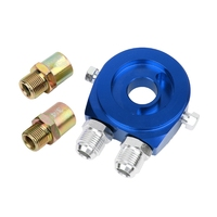 Black Red Blue Car Universal Oil Filter Sandwich Adapter For Cooler Plate Kit AN10 Aluminum For