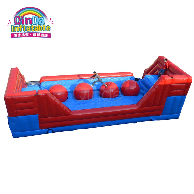 New Design Outdoor PVC Inflatable Wipeout Course Inflatable Obstacle Games For Sale kids and adult inflatable bounce house obstacle course with blowers