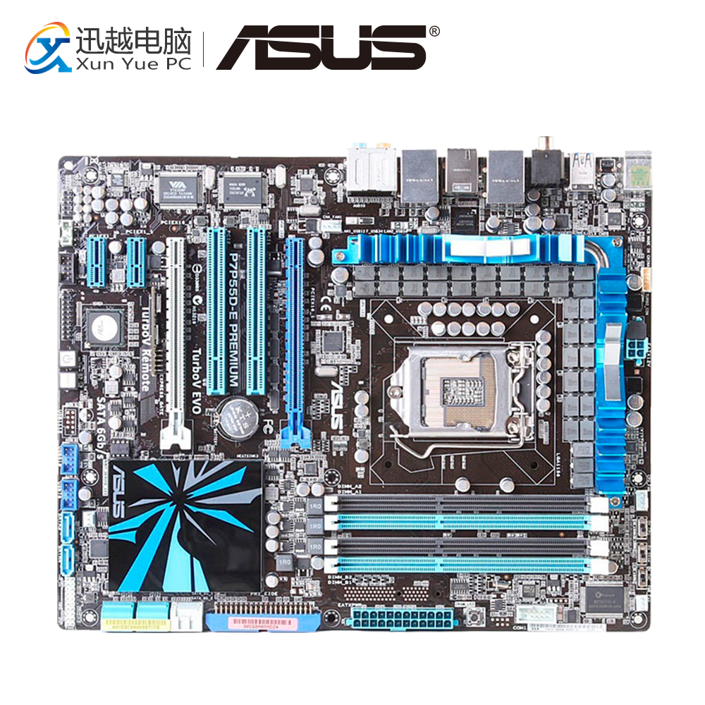 цена на Asus P7P55D-E Premium Desktop Motherboard P55 LGA 1156 i5 i7 DDR3 SATA2 USB3.0 ATX