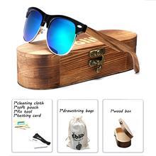 Bamboo Wood Sunglasses,Ablibi Mens Womens Handmade Semi Rimless Polarized Sunglasses (green)Drop Shipping