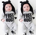 2016 Bebés Varones Recién Nacidos Ropa Del Mameluco Caliente de Manga Larga Mamelucos Del Bebé Del Mono Trajes NUEVOS