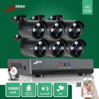 ANRAN HD 1080N 8CH HDMI DVR CCTV Video 6 Outdoor IR Home Security Camera System Free