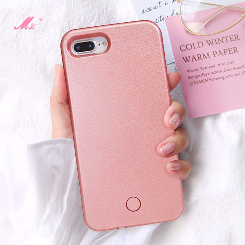 Selfie Light Phone Case For Iphone 6 7 8 Plus X Iphonex 5 SE Coque Flash Selfie Light Up Luxury I6 I7 S I8 Ix Plus I5 SE Cover