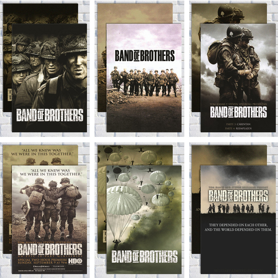 Band Of Brothers /kraft Paper/Wall Stickers/cafe Bar Poster/Retro Poster/decorative Painting
