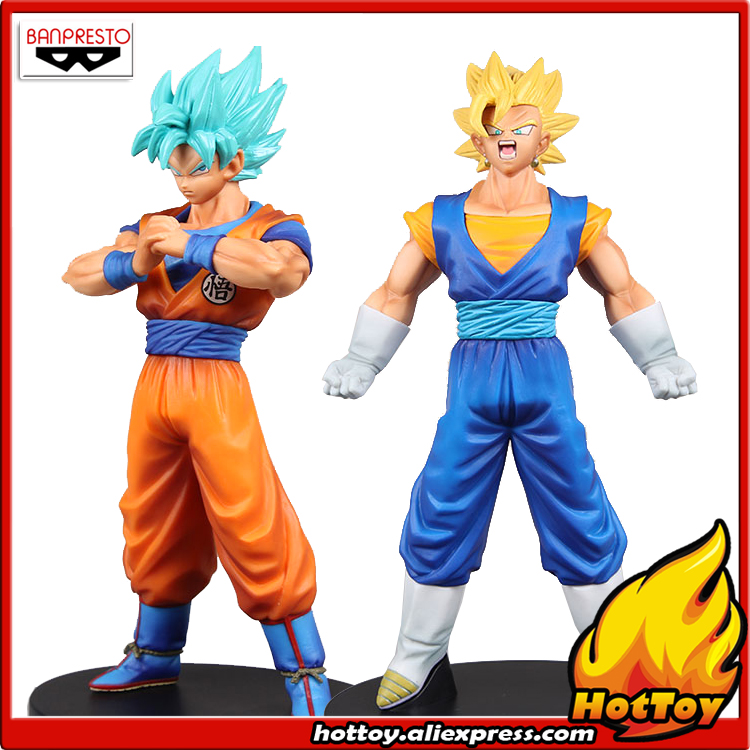Original Banpresto DXF THE SUPER WARRIORS vol.4 Collection Figure - Super Saiyan Vegetto + Son Goku from Dragon Ball SUPER 32cm dragon ball super the super warriors vol 3 figure collection goku black action figure