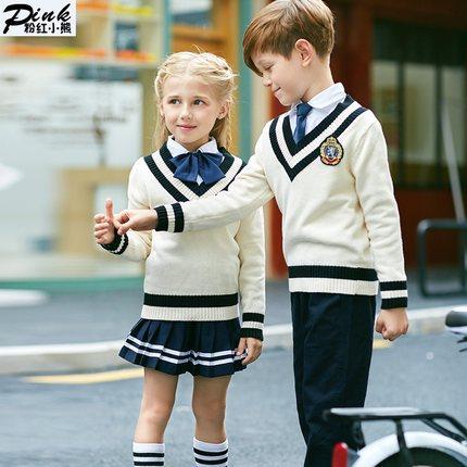 b27d1b63778d8 Crianças Jardim de Infância Uniforme Escolar Moda Infantil Ternos Meninos  Meninas Camisola Japonês Estudante Estilo Britânico Terno Outfits D 0528 em  ...
