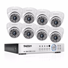 TMEZON 8CH CCTV System 8PCS 1080P Outdoor Weatherproof Security Camera 8CH 1080P DVR Day/Night Kit Video Surveillance System