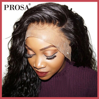 360 Lace Frontal Wig Pre Plucked With Baby Hair 180 Density Brazilian Lace Wig Body Wave Lace Front Human Hair Wigs Remy Prosa