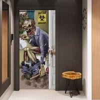 Foreign trade hot Halloween zombie door stickers Glass window stickers creative party wooden door renovation wall stickers