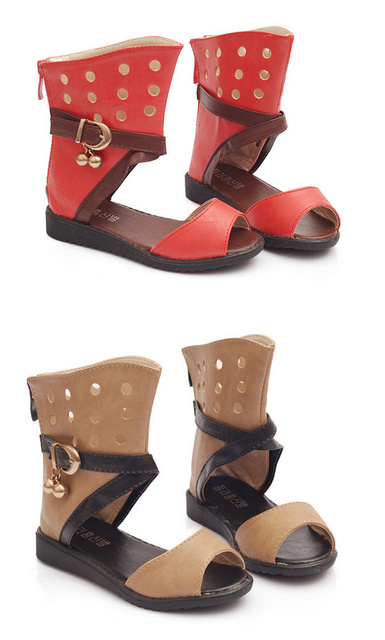 1f82b048f167 2015 Fashion Toddler Kid Children Gladiator Sandals Brown Red Baby Girl  Summer Long Boots 2-5T Sapatos Infantil Free Ship