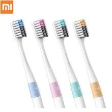 Orijinal 4 adet akıllı Xiaomi Doktor B Bas Yöntemi Diş fırçası Manuel Yumuşak Diş Fırçası 4 Renkler/Lot Ile Seyahat kutu