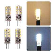 10pc/set 3W 5W SMD3014 G4 LED Lamp DC 12V 220V/ AC 220V Silicone Bulb 24/32/48/64/104 LEDs replace 10W 30W 50W Halogen Light