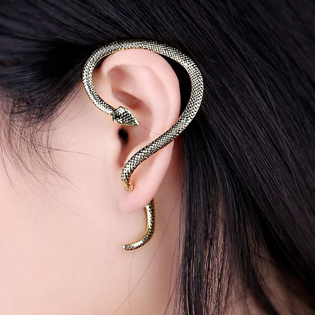 1PC Vintage Winding Snake Earrings for Women Men Jewelry European Punk Animal Ear Stud Handmade Mens.jpg 640x640 - 1PC Vintage Winding Snake Earrings for Women Men Jewelry European Punk Animal Ear Stud Handmade Mens Unisex Stud Earings E217